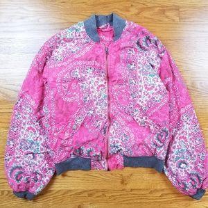 Free People Florist Paisley Design Pink Jacket